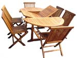 Teak Patio Table & Chair Set